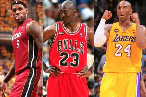 lbj  kobe  jordan whos   time king  game