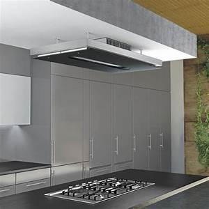 Hotte De Cuisine But : airforce gemma verre noire hotte plafond pour la cuisine ~ Premium-room.com Idées de Décoration
