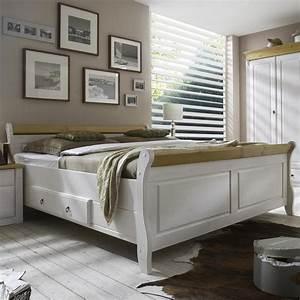 Bett 200x200 Weiß Holz : massivholz bett 200x200 eva kiefer massiv 2 farbig wei lackiert gelaugt ge lt ~ Bigdaddyawards.com Haus und Dekorationen