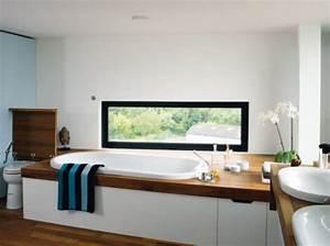 Idee fenetre panoramique bathroom salle de bain pinterest for Fenetre panoramique