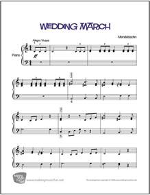 the wedding march wedding march menndelssohn easy piano sheet digital print