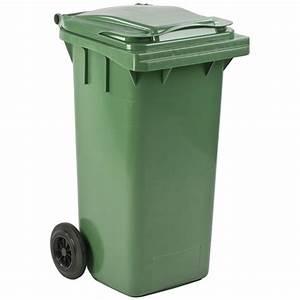 Poubelle 120 Litres : conteneur mini 120 litres bacs roulettes poubelles ~ Melissatoandfro.com Idées de Décoration