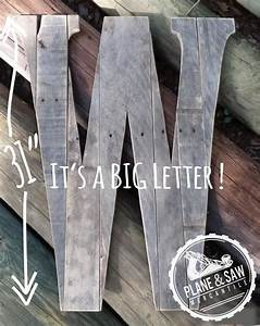 31quot tall rustic letter w guest bookbig wooden letter With giant letter guest book