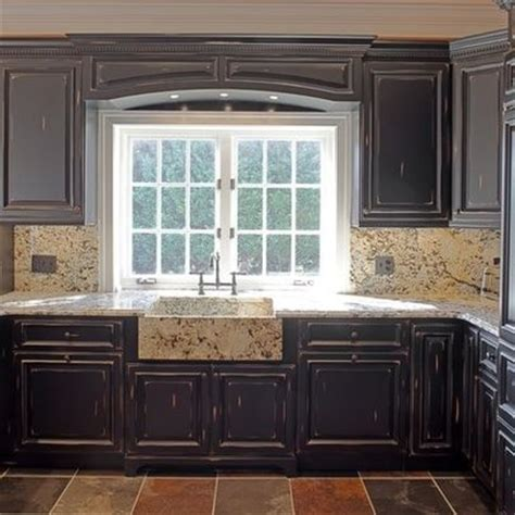 black distressed kitchen cabinets 17 best images about kitchen on 4664