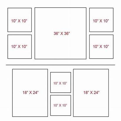 Canvas Wall Layouts Layout Collage Arrangements Signs