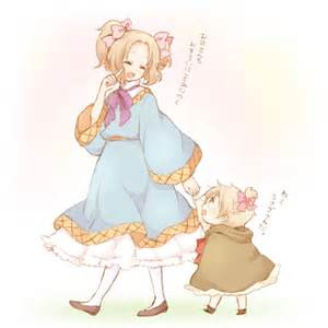 Hetalia France and Chibi!England