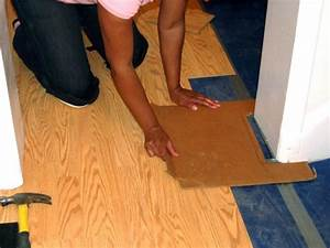 How to install a laminate floating floor how tos diy for Installing click lock flooring