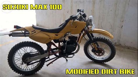 Suzuki Max 100 Modified To Dirt Bike