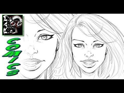 draw  comic book girls face   video