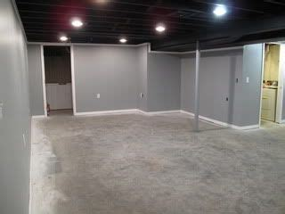 black ceiling paint grey basement with black painted ceiling and grey concrete floors loft style unfinished