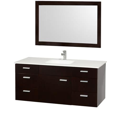 single sink bath vanity wyndham collection encore 52 modern single sink bathroom