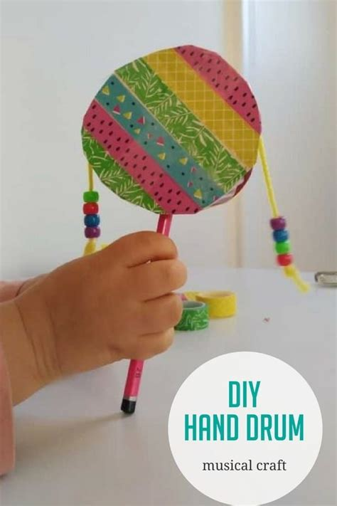 diy hand drum craft  kids drum craft drums  kids