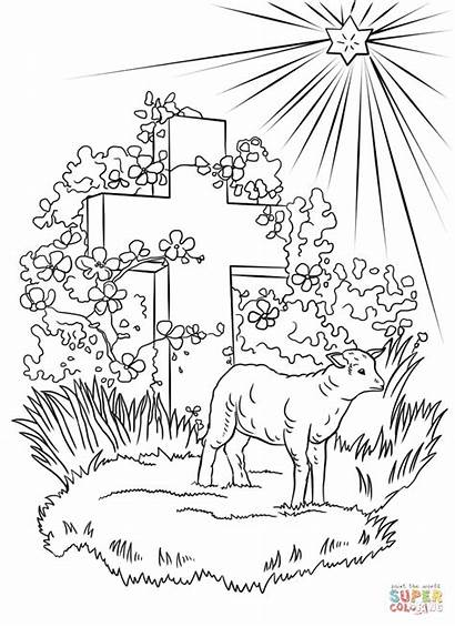 Lamb Coloring God Pages Lion Easter Printable