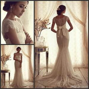 vintage lace luxury trumpet wedding dresses 2015 new cheap With vintage white wedding dress