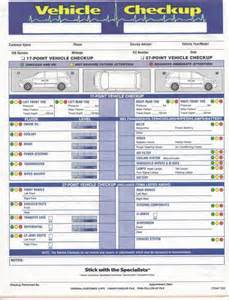 Quality Check Sheet Template Multi Point Inspection Form Vehicle Checkup Item 7290 Imp Imprinted Autoshopspecialties Com