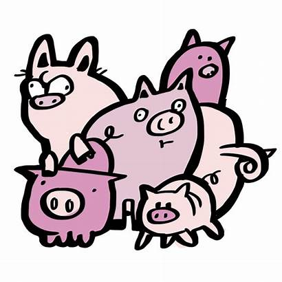 Pigs Clipart Drawing Five Bunch Cliparts Dunno