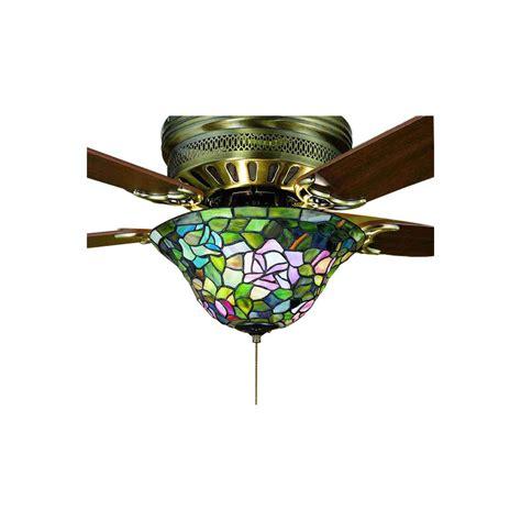 meyda tiffany ceiling fan light kit shop meyda tiffany 3 light mahogany bronze ceiling fan