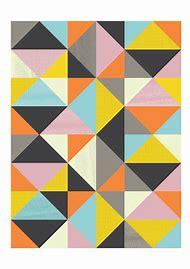 Mid Century Modern Geometric Art