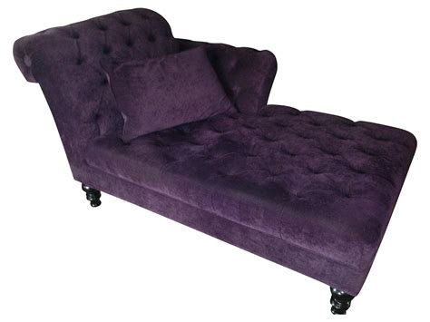 chaise transparent purple velvet chaise lounge chairish
