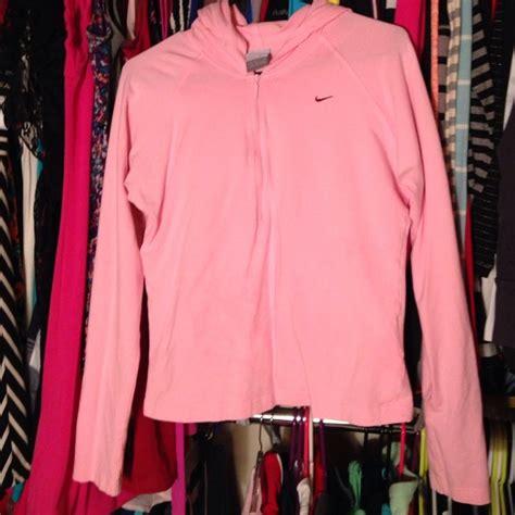 nike light pink windbreaker nike light pink half zip up nike hoodie from sarah 39 s