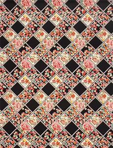 Schwarzer Stoff Kaufen : schwarzer asia blumen karo muster kokka stoff aus japan blumenstoffe stoffe shop modes4u ~ Markanthonyermac.com Haus und Dekorationen
