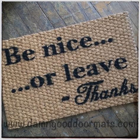 leave doormat be or leave rude doormat from