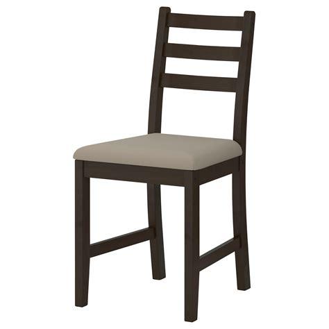 chaise ikéa lerhamn chair black brown ramna beige ikea