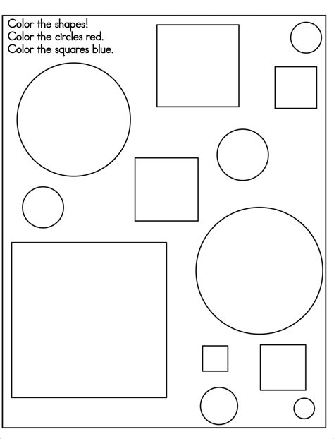free printable shapes coloring pages for