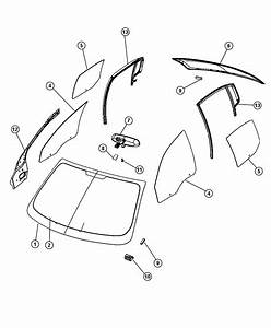 2008 Chrysler Sebring Backlite  Backglass  Defrosterfront