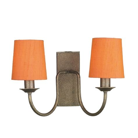 traditional bronze wall light with orange clip on