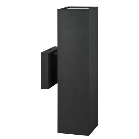 decor living tomas 2 light black wall sconce 2501wl 021