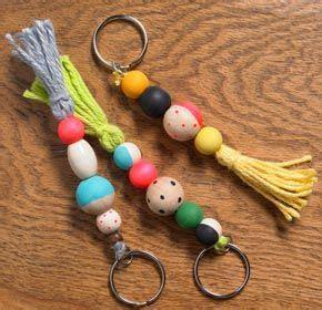 craft ideas  kids wooden bead keychains bead crafts