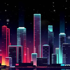 Download Neon Skyline Live Wallpaper Engine Free  Fascinating Live Wallpaper For Pc Directly