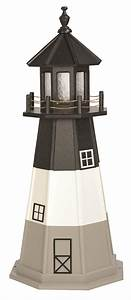 Oak Island NC Wooden Garden Lighthouse by Dutchcrafters Amish
