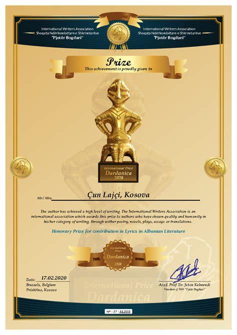 Çmimi Dardanika për Artistin Çun Lajçi | IWA BOGDANI