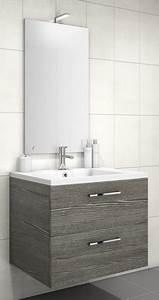meuble sous vasque loft 2 tiroirs de 70 cm discac With meuble sous vasque salle de bain 70 cm