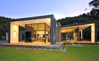 contemporary home designs 3 glass cubed volumes sheltered roof define sustainable home modern house designs