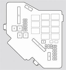 Acura Rdx  2009 - 2010  - Fuse Box Diagram