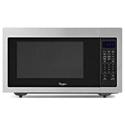 home depot countertop microwaves whirlpool 1 6 cu ft countertop microwave in stainless