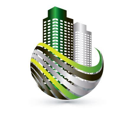 design  logo real estate buildings logo template
