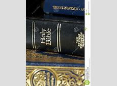 Bible And Koran Qur'an And Book Of Mormon Stock Image