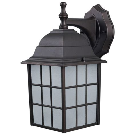 canarm colton 1 light bronze outdoor wall lantern with