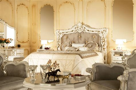 gold silk drapes modern baroque bedroom interior home designs project