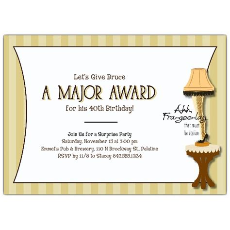 major award birthday party invitations paperstyle