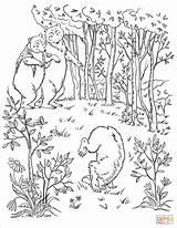 Coloring Bears Wood Into Three Pages Walk Printable Drawing Through Story Goldilocks Colorings Stories sketch template