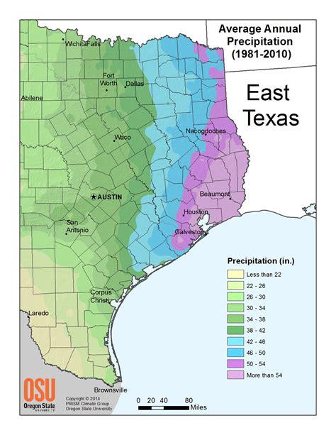 Annual Precipitation Climate Of Texas