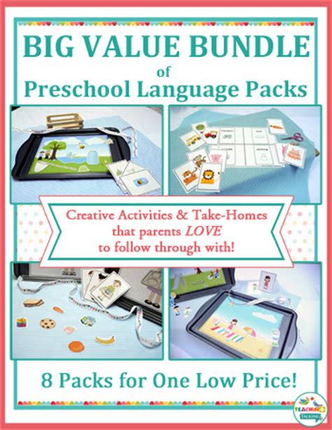 creative preschool speech therapy activities for busy slps 431 | original 8 bundle cover portrait thumba