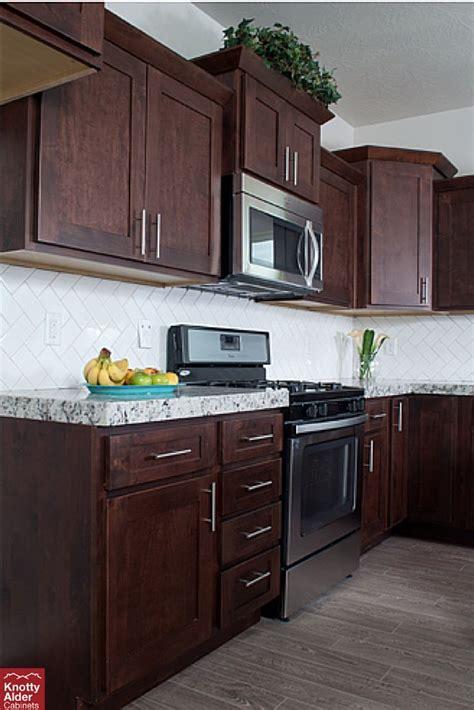 mocha shaker kitchen cabinets mocha cabinets against white contrast kac 7570