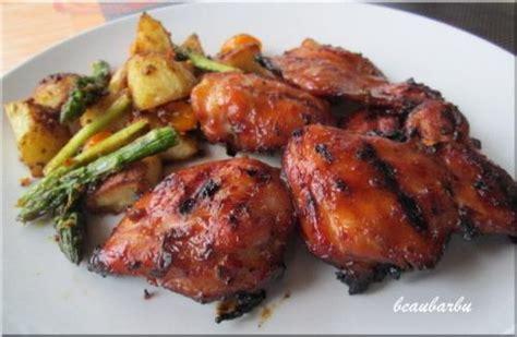 cuisiner des cuisse de poulet hauts de cuisse de poulet barbecue recette du chef
