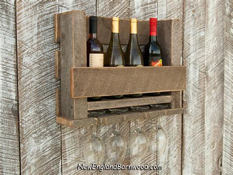 Rustic Farmhouse Wall Mounted Wooden Wine Rack